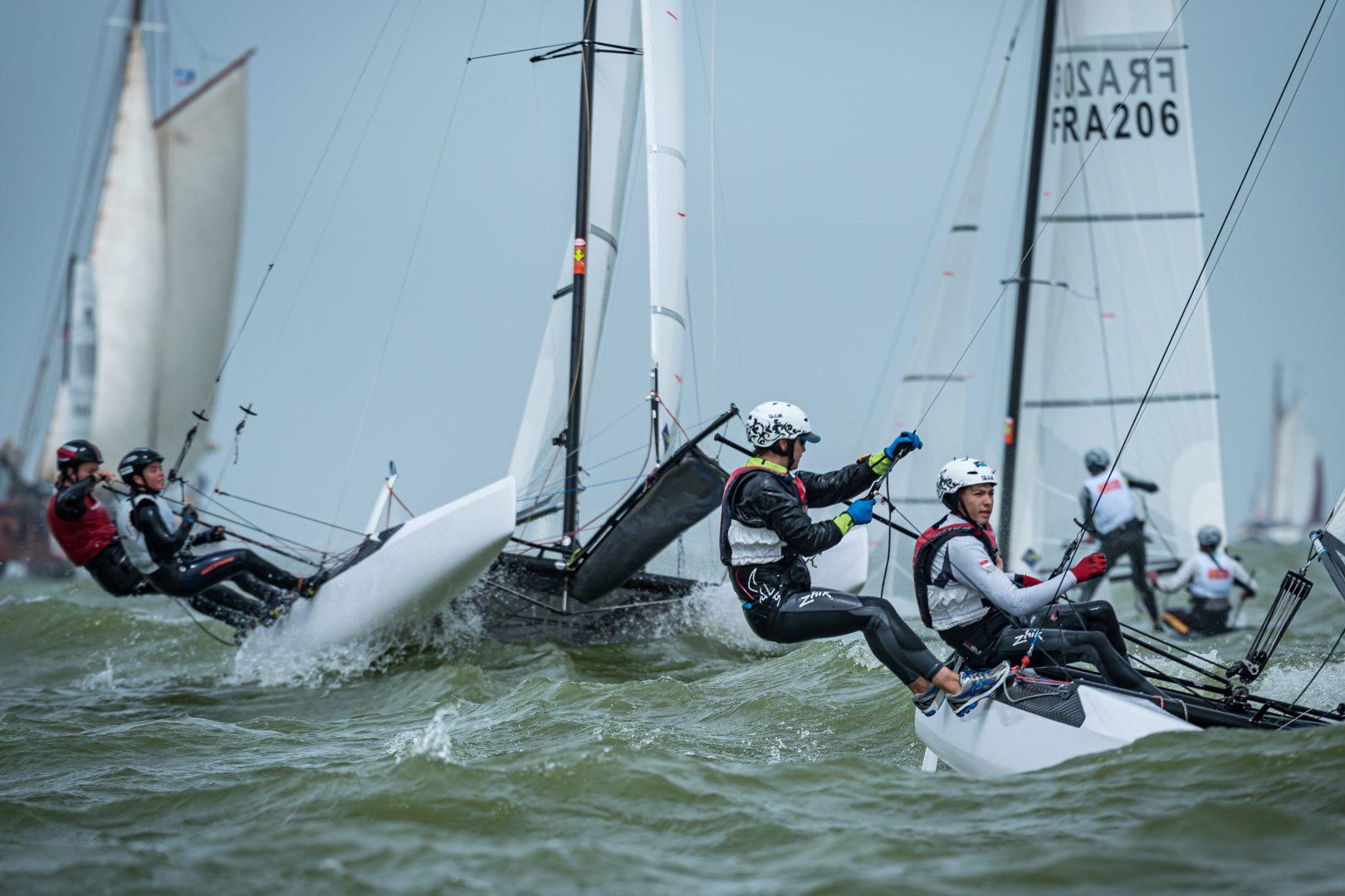 Dutch Youth Regatta 2019 day one sailed in choppy conditions